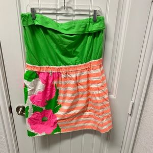 Dresses & Skirts - Lilly Pulitzer strapless dress. Vibrant colors!